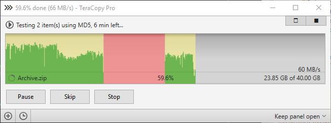 Full TeraCopy screenshot
